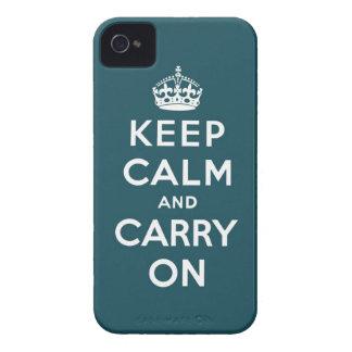 behalten Sie Ruhe und machen Sie Vorlage weiter iPhone 4 Cover