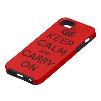 behalten Sie Ruhe und machen Sie Vorlage weiter iPhone 5 Schutzhüllen