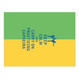 Behalten Sie Ruhe und machen Sie weiter, Capoeira Postkarte