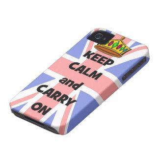 behalten Sie Ruhe und machen Sie weiter Case-Mate iPhone 4 Hülle