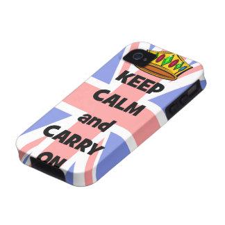 behalten Sie Ruhe und machen Sie weiter Vibe iPhone 4 Case