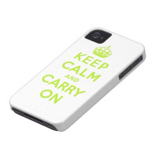 behalten Sie Ruhe und machen Sie weiter iPhone 4 Hüllen