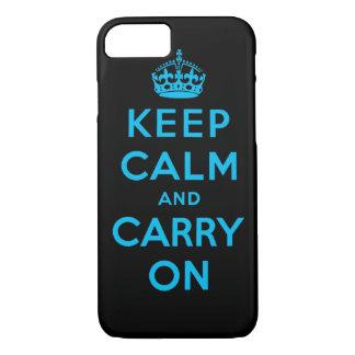 behalten Sie Ruhe und machen Sie weiter iPhone 7 Hülle