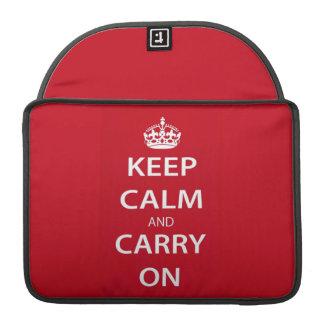 Behalten Sie Ruhe und machen Sie weiter Sleeves Für MacBooks
