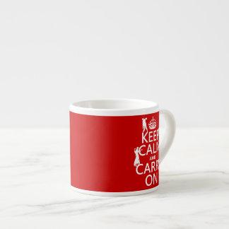 Behalten Sie Ruhe und machen Sie weiter (Zombies) Espressotasse