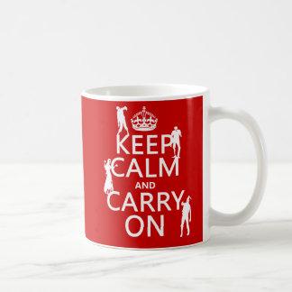 Behalten Sie Ruhe und machen Sie weiter (Zombies) Kaffeetasse
