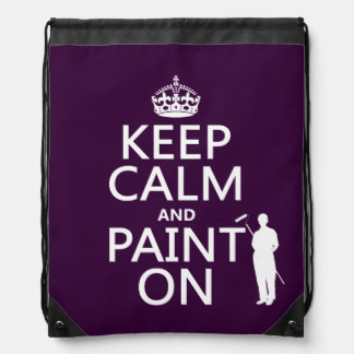 Behalten Sie Ruhe und malen Sie auf (Dekorateur) Turnbeutel