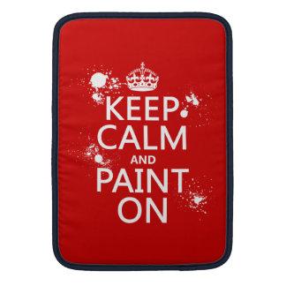 Behalten Sie Ruhe und malen Sie auf (in allen MacBook Sleeve