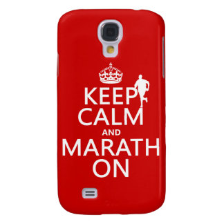 Behalten Sie Ruhe und Marath an Galaxy S4 Hülle