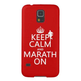 Behalten Sie Ruhe und Marath an Samsung Galaxy S5 Hülle