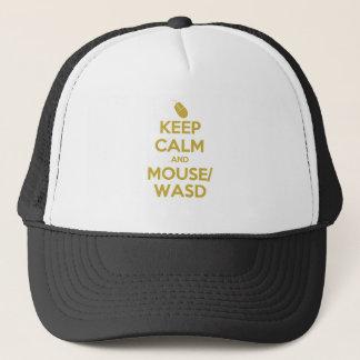 Behalten Sie Ruhe und Maus WASD Truckerkappe