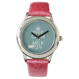 Behalten Sie Ruhe und Milch auf (Kühe) (in allen Armbanduhr