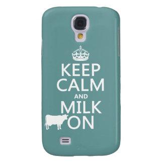 Behalten Sie Ruhe und Milch auf (Kühe) (in allen Galaxy S4 Hülle