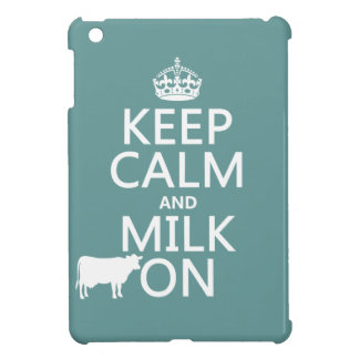 Behalten Sie Ruhe und Milch auf (Kühe) (in allen iPad Mini Hülle