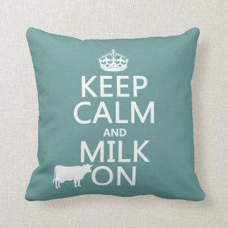 Behalten Sie Ruhe und Milch auf (Kühe) (in allen Kissen