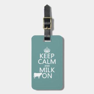 Behalten Sie Ruhe und Milch auf (Kühe) (in allen Kofferanhänger