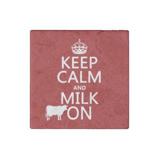 Behalten Sie Ruhe und Milch auf (Kühe) (in allen Steinmagnet