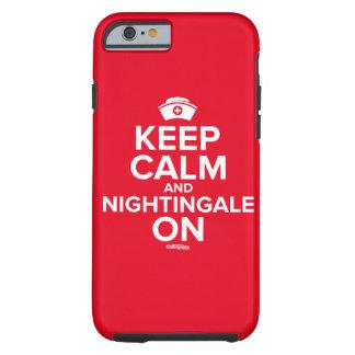 """""""Behalten Sie Ruhe und Nachtigall auf"""" Phonecase Tough iPhone 6 Hülle"""