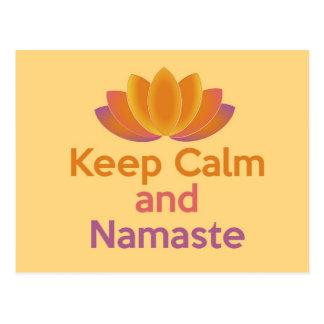 Behalten Sie Ruhe und Namaste - Zen, Yoga, Postkarten