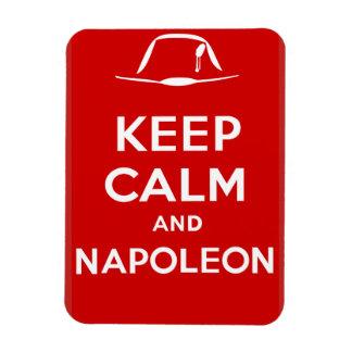 Behalten Sie Ruhe und Napoleon Magnet