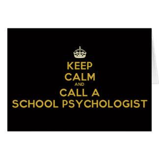 Behalten Sie Ruhe und nennen Sie Ihre Schule Karte