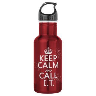 Behalten Sie Ruhe und nennen Sie SIE (irgendeine Trinkflasche