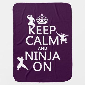 Behalten Sie Ruhe und Ninja auf (in irgendeiner Babydecke