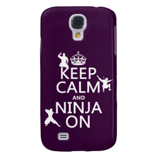 Behalten Sie Ruhe und Ninja auf (in irgendeiner Galaxy S4 Hülle