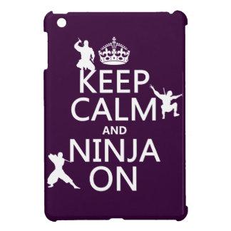 Behalten Sie Ruhe und Ninja auf (in irgendeiner iPad Mini Hülle