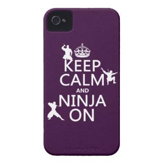 Behalten Sie Ruhe und Ninja auf (in irgendeiner iPhone 4 Case-Mate Hülle