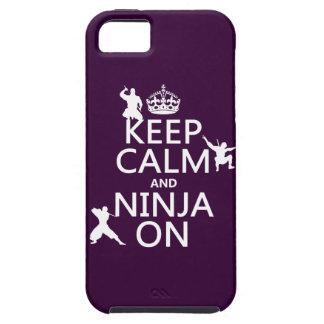 Behalten Sie Ruhe und Ninja auf (in irgendeiner iPhone 5 Etui