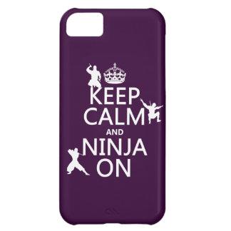 Behalten Sie Ruhe und Ninja auf (in irgendeiner iPhone 5C Hülle