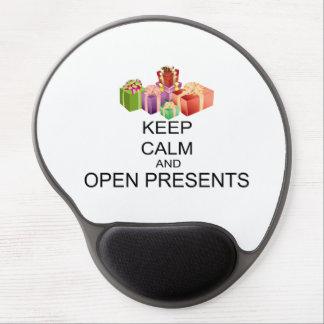 Behalten Sie Ruhe und öffnen Sie Geschenke Gel Mousepad