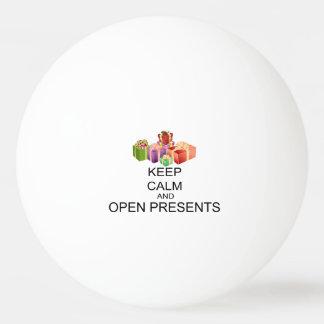 Behalten Sie Ruhe und öffnen Sie Geschenke Ping-Pong Ball