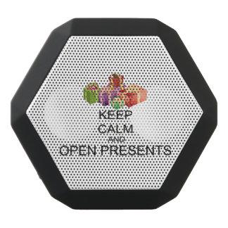 Behalten Sie Ruhe und öffnen Sie Geschenke Schwarze Bluetooth Lautsprecher