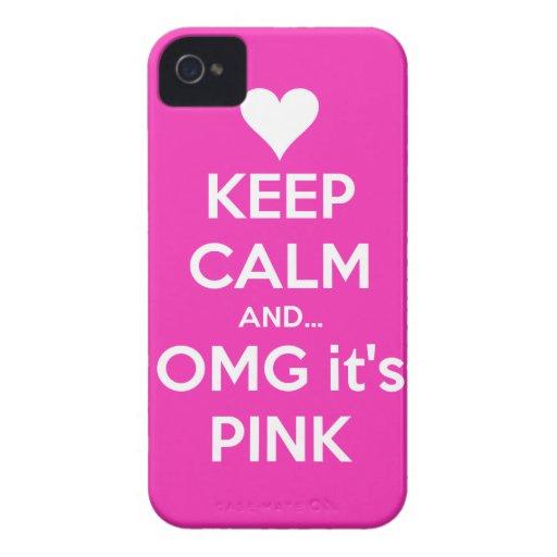 Behalten Sie Ruhe und OMG… ist es rosa iPhone 4/4s iPhone 4 Etuis