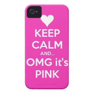 Behalten Sie Ruhe und OMG… ist es rosa iPhone 4/4s iPhone 4 Case-Mate Hülle