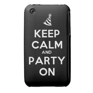 Behalten Sie Ruhe und Party auf iPhone 3 Case-Mate Hülle