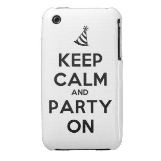 Behalten Sie Ruhe und Party auf iPhone 3 Case-Mate Hüllen