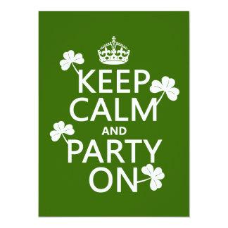 Behalten Sie Ruhe und Party auf (Iren) (irgendeine Karte