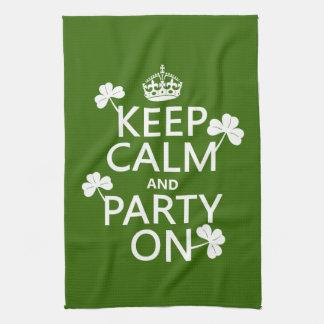 Behalten Sie Ruhe und Party auf (Iren) (irgendeine Küchentuch