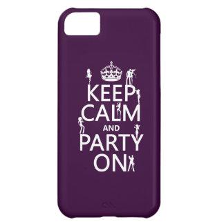 Behalten Sie Ruhe und Party auf (Partymädchen) iPhone 5C Hülle