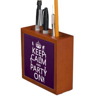Behalten Sie Ruhe und Party auf (Partymädchen) Stifthalter