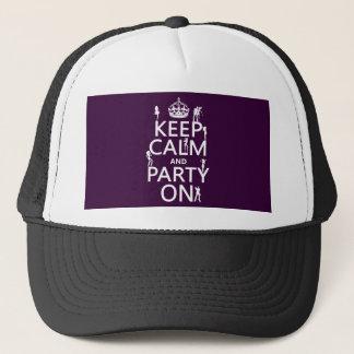 Behalten Sie Ruhe und Party auf (Partymädchen) Truckerkappe