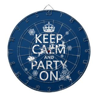 Behalten Sie Ruhe und Party auf (Weihnachten) Dartscheibe