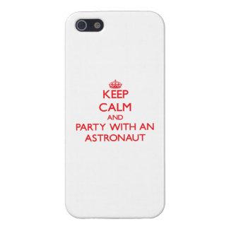 Behalten Sie Ruhe und Party mit einem Astronauten iPhone 5 Etuis