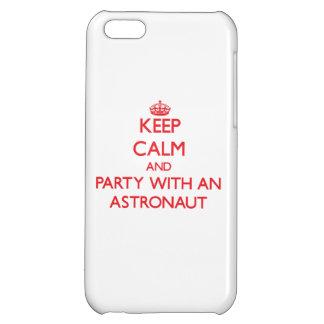 Behalten Sie Ruhe und Party mit einem Astronauten iPhone 5C Schale