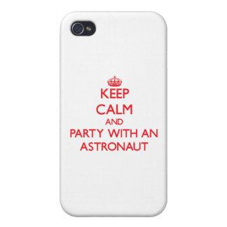 Behalten Sie Ruhe und Party mit einem Astronauten iPhone 4 Cover