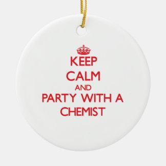 Behalten Sie Ruhe und Party mit einem Chemiker Weihnachtsbaum Ornamente