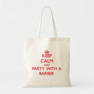 Behalten Sie Ruhe und Party mit einem Friseur Tasche